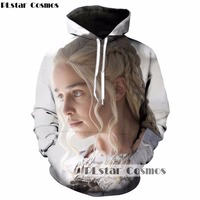 PLstar Cosmos 2017 New Design Hot TV Drama Game Of Thrones Fashion 3d Hoodies Daenerys Targaryen