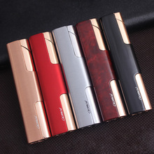 Free Shipping Compact Pipe Lighter Torch Turbo Lighter Strip Windproof Metal Cigar Lighter 1300 C Butane No Gas