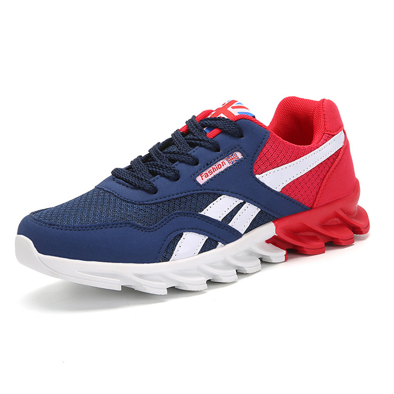 Chaussures bleu Appartements Occasionnels Chaussure Royal Casual Bluered Mocassins Sneakers Hommes Marque Léger R6wExqqZg