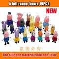 Serie de Plástico rosa cerdo Cerdo de Juguete Juguetes Juguetes de PVC Figuras de Acción Familiar Del Cabrito Del Bebé Regalo de Cumpleaños brinquedo