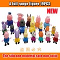 series of Plastic pink pig Toys PVC Action Figures Family Member Pig Toy Juguetes Baby Kid Birthday Gift brinquedo