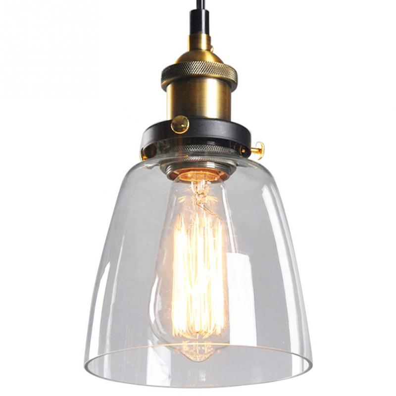 E27 Edison Bulb Vintage Industrial Lighting DIY Ceiling Lamp Light Glass Pendant Lampshade for Cafe Home Decorv vintage loft industrial edison flower glass ceiling lamp droplight pendant hotel hallway store club cafe beside coffee shop