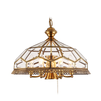 Американский стиль медный корпус светодиодный подвесной светильник Dia.50cm 7 свет американского стекла Тень висит свет bjorn светодиодный E14 све