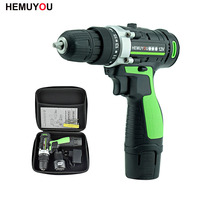 12V Electric Screwdriver Rechargeable Lithium Battery*2 Double Speed Cordless Screwdrivers Parafusadeira Furadeira Power Tools