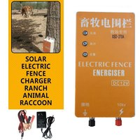 Electric Fence 10KM Solar Energizer Charger High Voltage Pulse Controller Animal Electric Fence Breeding Fence Pastor XSD 280B