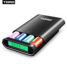 TOMO 18650 funda para cargador de batería, 2 entradas, T4, portátil, bricolaje, 5V, 2.1A, salida máxima