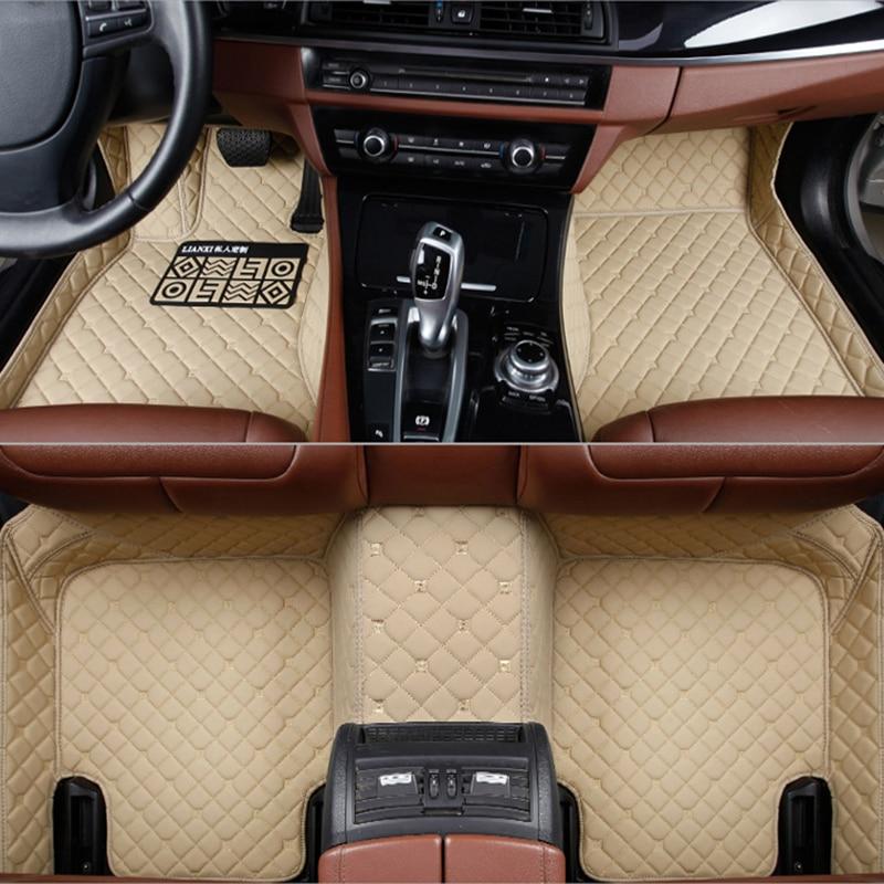 Flash de couro tapete tapetes do assoalho do carro para Mercedes Benz W203 W210 W211 W204 A B C E S CLASSE AMG CLA CLS CLK SLK GLA GLC GLS A20 Pé