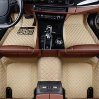 Flash mat leather car floor mats for Mercedes Benz W203 W210 W211 AMG W204 A B C E S CLASS CLS CLK CLA SLK GLA GLC GLS A20 Foot
