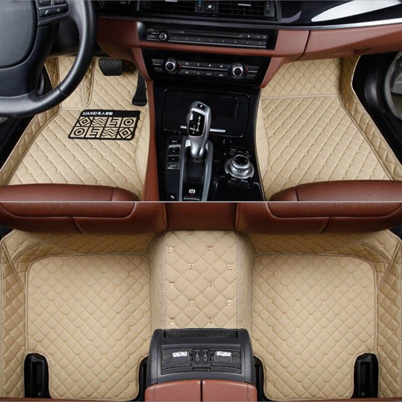 Tapis de sol en cuir pour Mercedes Benz W203 W210 W211 AMG W204 A B C E S classe CLS CLK CLA SLK GLA GLC GLS A20 Foot