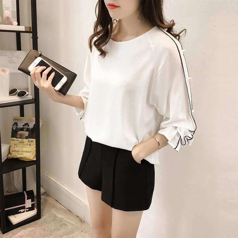HTB1 F65OFXXXXXeXFXXq6xXFXXXo - Chiffon Blouses Plus Size M-4XL Korean Women Long Sleeve