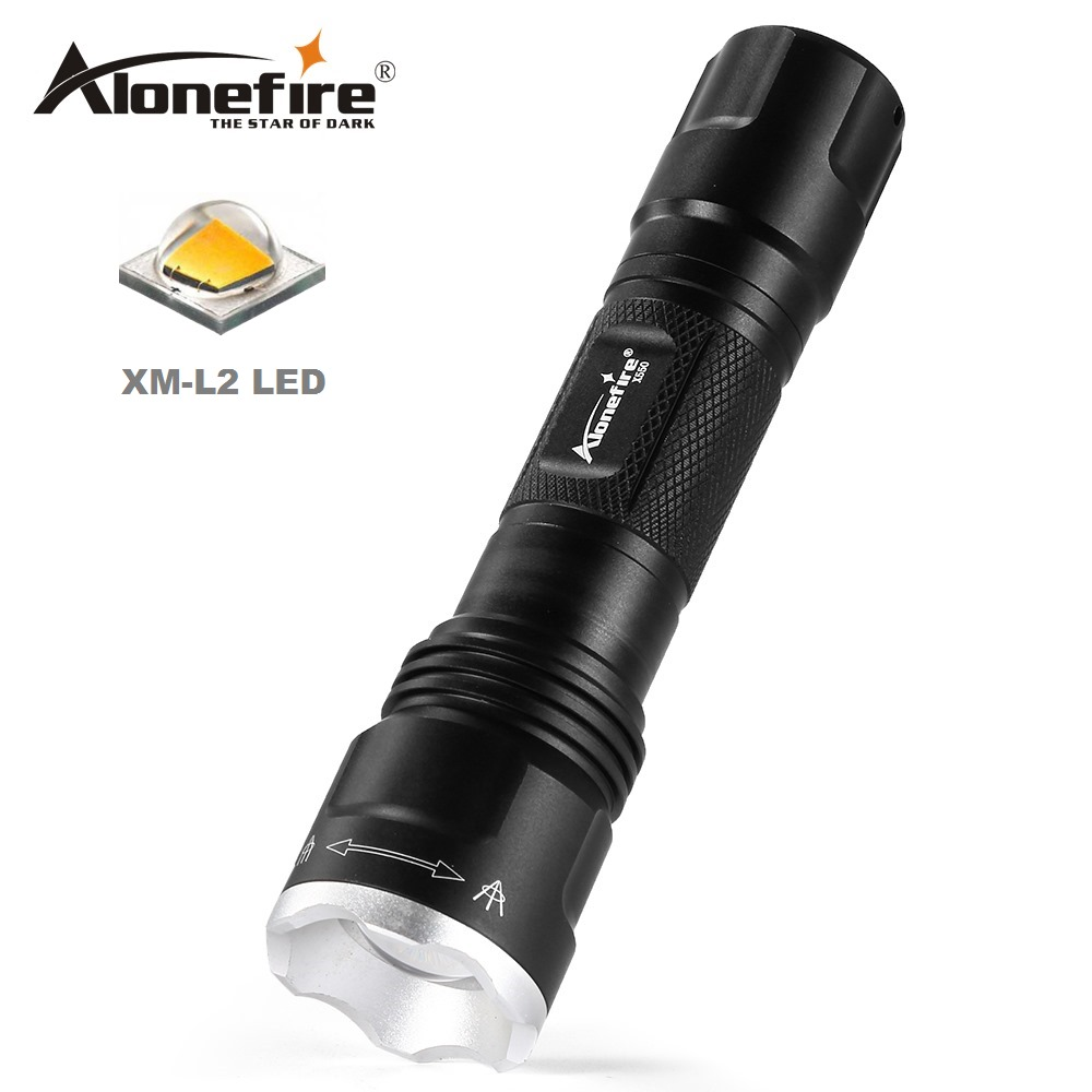 Independent Alonefire X550 Xm-l2 Led Flashlight Zoom 5 Modes Flash Lights Adjustable Focus Led Light Lamp Torch Complete Range Of Articles Lights & Lighting