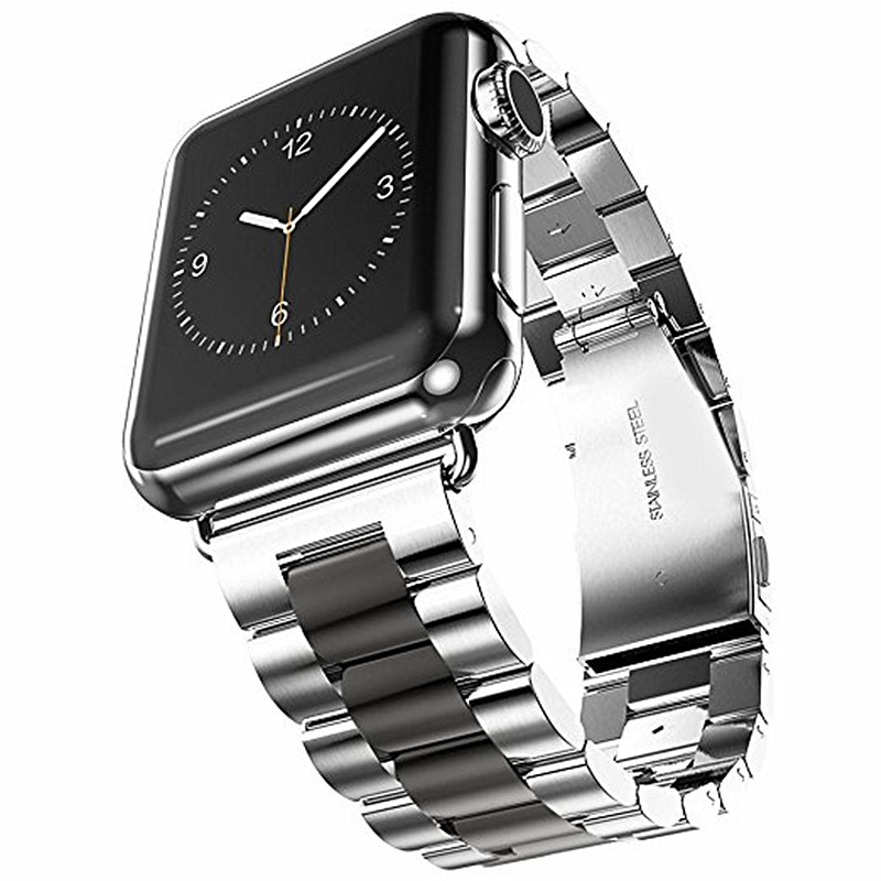 все цены на ASHEI Stainless Steel Watchband For Apple Watch 3 Band Strap 42mm 38mm Metal Link Bracelet For iWatch Series 3/2/1 Sport Editon