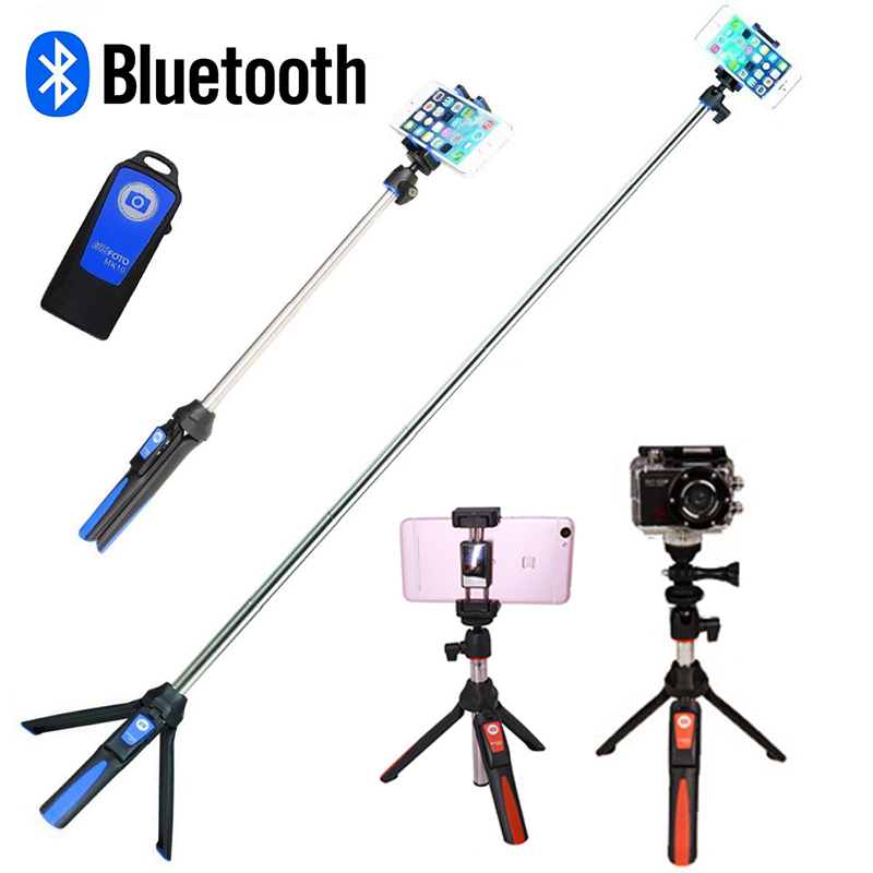 Phone Tripod Monopod Wireless Bluetooth Selfie Stick Tripod for Gopro Sports Camera for iPhone X 8 7 Plus Smartphone Gopro 6 5