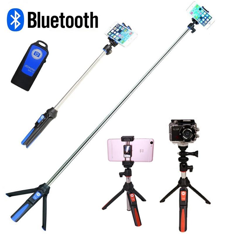 Phone Tripod Monopod Wireless Bluetooth Selfie Stick Tripod for Gopro Sports Camera for iPhone X 8 7 Plus Smartphone Gopro 6 5 штатив monopod z07 5 bluetooth black for selfie