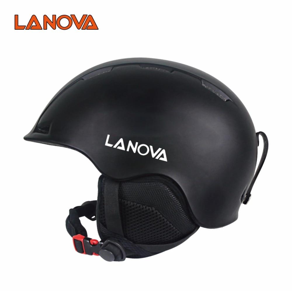 LANOVA Casco de esquí Casco de snowboard profesional ultraligero e - Ropa deportiva y accesorios