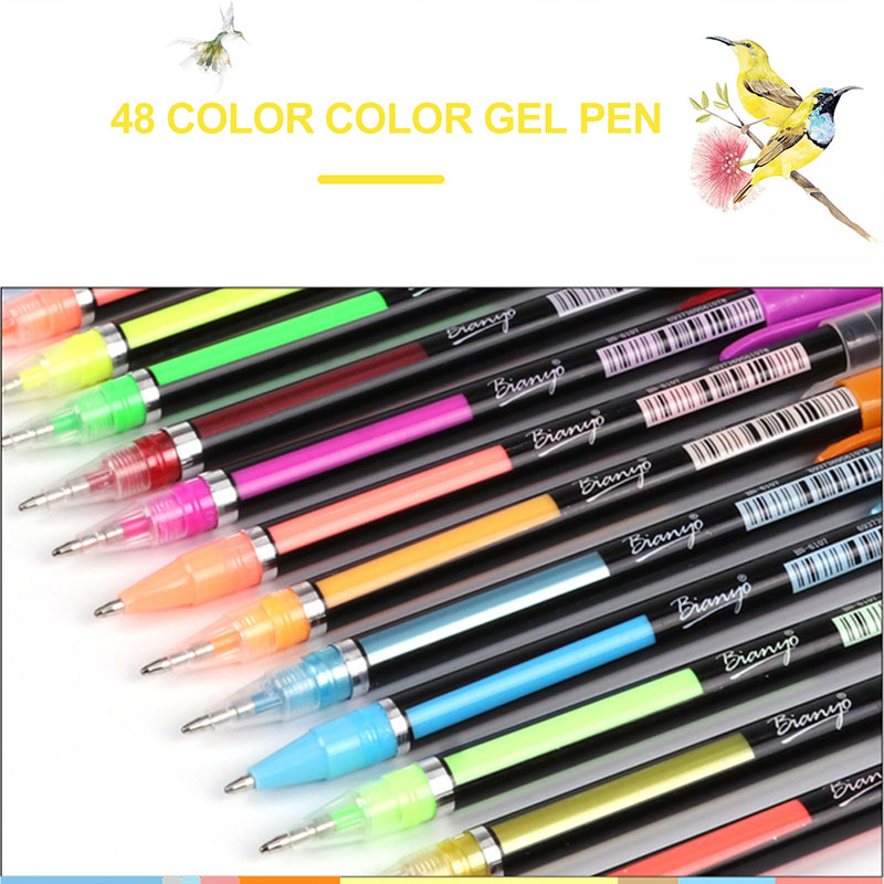 Durable Neutral Pen Set School Supplies 48 Colors Signature Pen Set Gifts Delicate Gel Pen Bright Marking PenDurable Neutral Pen Set School Supplies 48 Colors Signature Pen Set Gifts Delicate Gel Pen Bright Marking Pen