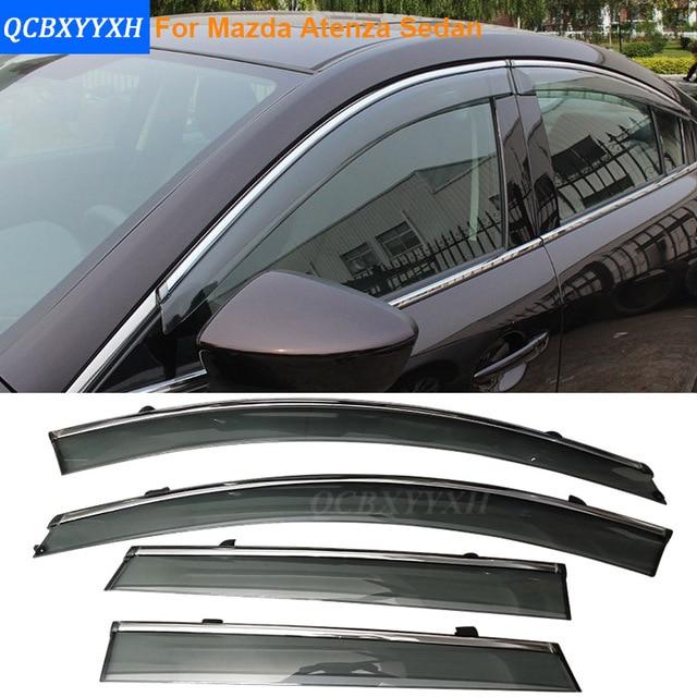 Car Stylingg Awnings Shelters 4pcs/lot Window Visors For Mazda Atenza Sedan 2014-2017 Sun Rain Shield Stickers Covers