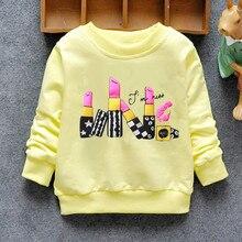Мода Нового Прибытия Новорожденных Девочек Футболка Весна Осень Зима 6 Кошки прекрасный с длинным рукавом Характер детские детская одежда
