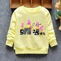 La moda de Nueva Llegada de los Bebés de la Camiseta de Primavera Otoño Invierno 6 Gatos encantadores de Caracteres de manga larga bebé ropa de los cabritos