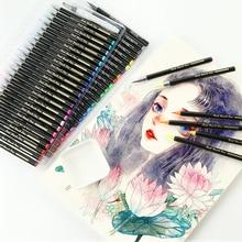 24/48 цветов, набор мягких кистей для рисования, манга, комиксы, акварельные маркеры, ручка, каллиграфия, кисти, принадлежности для художника