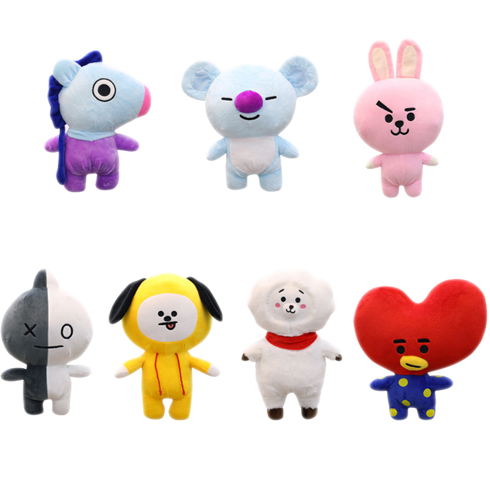 Korea idol Cute bangtan Plush toy TATA CHIMMY KOAY RJ Cooky kpop VAN MANG soft stuffed doll Fine collection Quality gift slipper