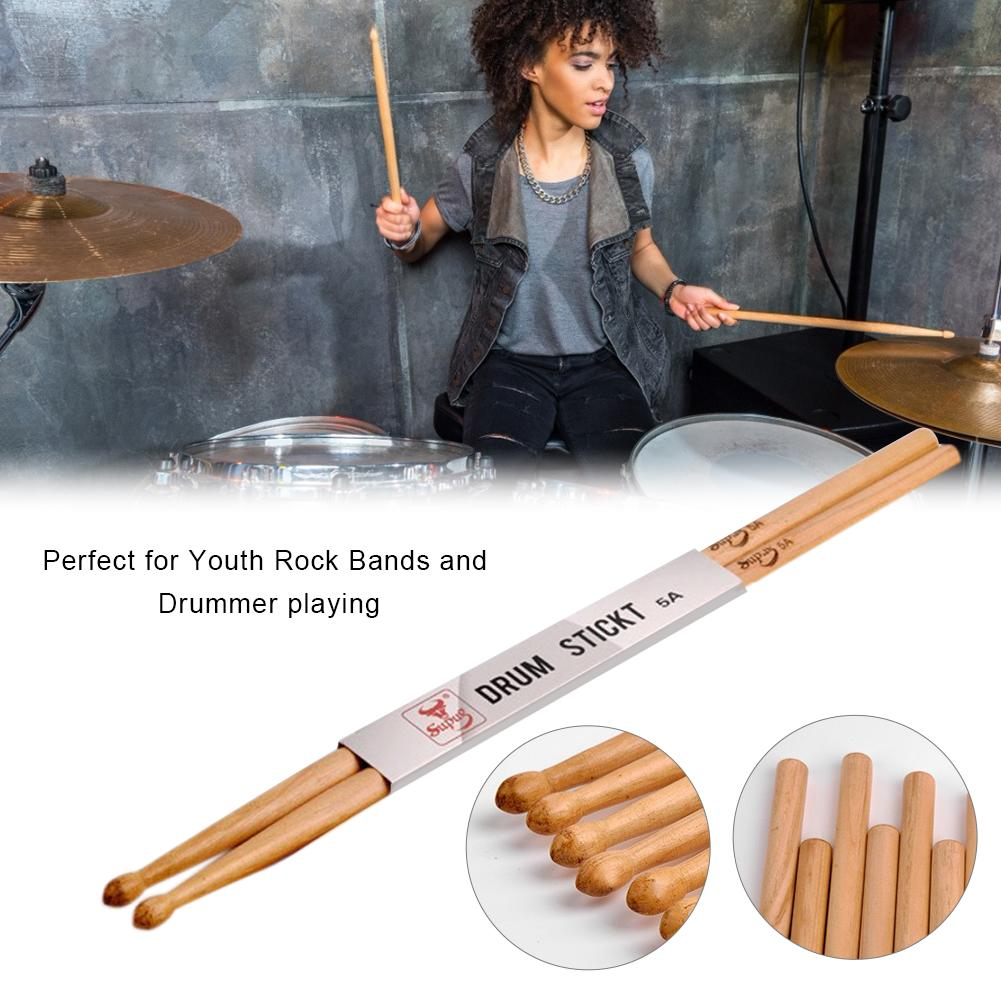 1 Pair Professional Drumstick Iron Jujube Wooden / Maple Material Drum Sticks 5A 7A Music Musical Accessories Parts
