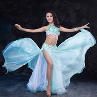 New Luxury Oriental BellyDance Costumes For Kids Child Girls Sexy Hand Made Belly Dancing Suits Clothes