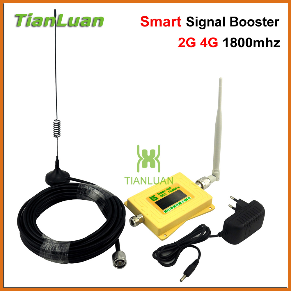 Smart LCD DCS980 Mobile Phone Signal Booster 2G 4G DCS 1800mhz Signal Repeater DCS Booster with Whip Antenna / Sucker AntennaSmart LCD DCS980 Mobile Phone Signal Booster 2G 4G DCS 1800mhz Signal Repeater DCS Booster with Whip Antenna / Sucker Antenna