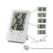 1 ШТ. Мини Цифровой Гигрометр ЖК Измеритель Температуры И Влажности Часы Крытый Термометр Гигрометр Метр В/Открытый T50