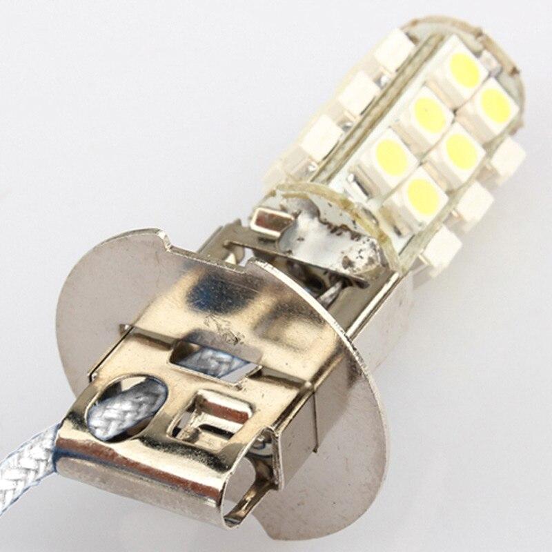 2 Pcs/Set 12V Car Fog Head Light H3 26 3W SMD LED Cold White Lamp Bulb NJ88