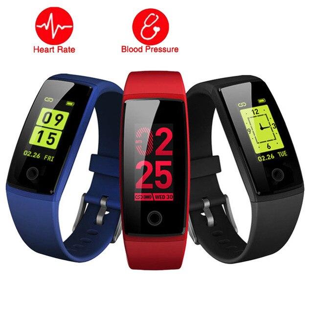 a075761518f Cor Do Bluetooth Relógio Inteligente Homens Mulheres HR BP de Fitness Saúde  Smartwatch Apto