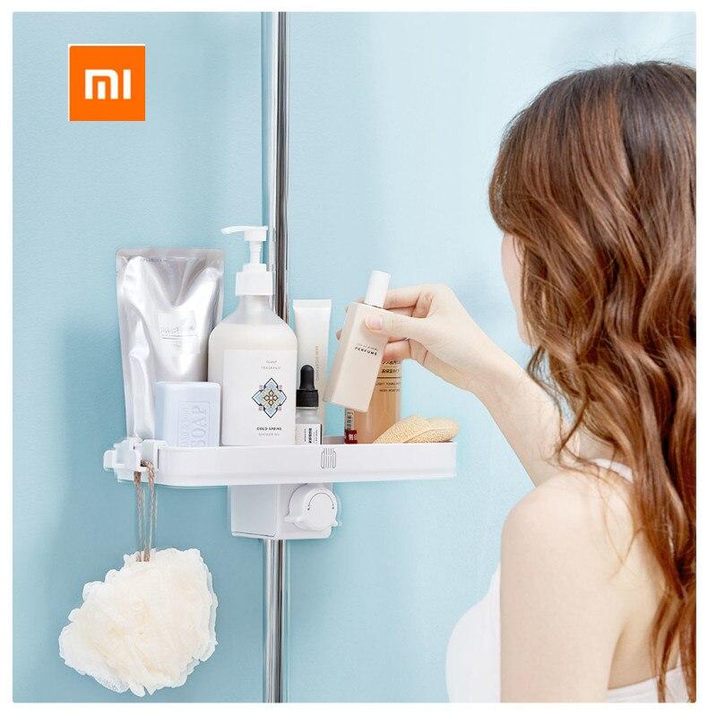 Image 4 - Xiaomi Mijia Dabai المحمولة الاستحمام الحمام تخزين الرف منشفة رف معلق شنقا تخزين الرف DIY منظمة مع هوكاكسسوارات أجهزة العناية الشخصية   -