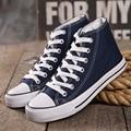 Com box! Venda quente Clássico Da Moda de Lazer de Alta-Top Lona Todos Os Sapatos Da Estrela mulheres sapatos Tamanho EUR 35-45