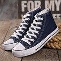 Con la caja! Venta caliente Clásico de La Moda de Ocio del Alto-Top de Lona de la Estrella Todos Los Zapatos de las mujeres calza Tamaño EUR 35-45