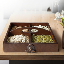 Wooden Storage Box For Seeds nut candy Makeup Organizer Dry Fruits Case Desktop Home Office Table Container Protect Fruit