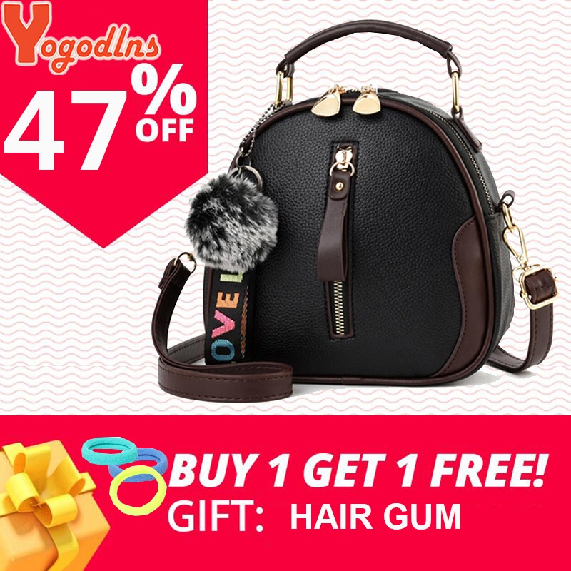 Luggage & Bags Helpful Yogodlns Fashion High Quality Pu Leather Shoulder Bags For Women Solid Color Feminina Handbag Hair Ball Ornaments Crossbody Bag