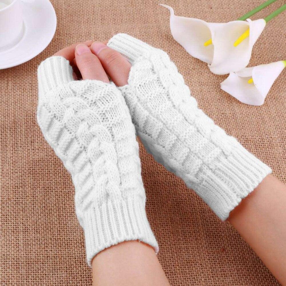 Bastante elegante mano invierno más cálido guante hombres mujeres ...