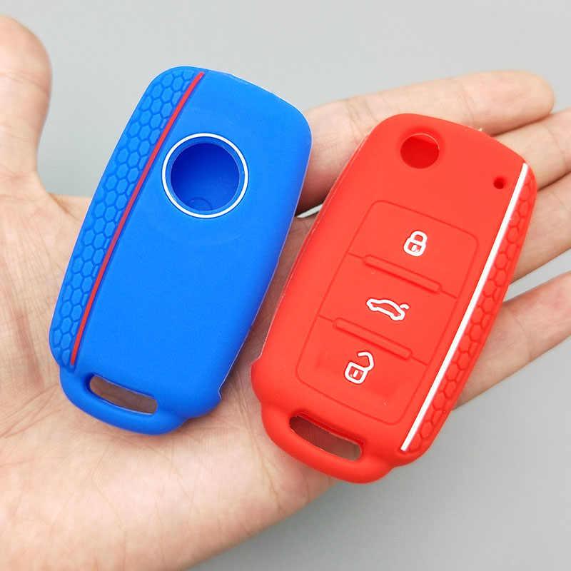 車のキー保護フォルクスワーゲンポロパサート b5 ゴルフ 4 5 6 MK5 MK6 Eos ボラカブトムシ TSI 新デザインのシリコンカバーケース