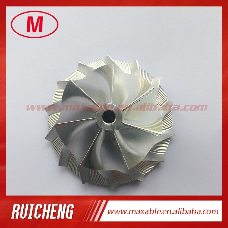 RHF5V 43,00/60,00 мм 7 + 7 лезвий высокая производительность турбо заготовка/Фрезерование/алюминий 2618 компрессор колеса для VB13 обновления