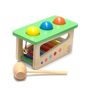 Candice guo! Hot sale colorful educational wooden toy multipurpose sound knocks ping-pong table