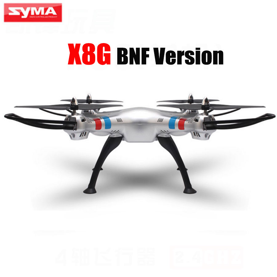 100% Original SYMA X8G RC Quadcopter 2.4G 4CH Single Drone Without Camera and Remote Control BNF Version With Retail Packaging pu leather cover case for samsung galaxy tab 2 p3100 p3110 7 inch case pc fashion polka dots with sleep wake