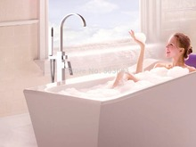 50046/6 Floor-Mounted Bathroom Bath Clawfoot Tub Filler Faucet Handshower Free standing