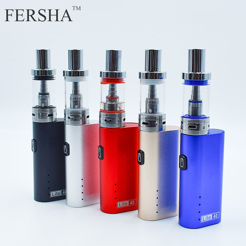 FERSHA Electronic Cigarette Lite-40W vape mod box kit 2200mha battery 3ml tank e-cigarette Big smoke atomizer vaper 30w safety electronic cigarette mini mechanical pole smoke suit steam smoke portable authentic electronic cigarette
