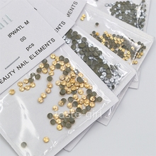 100PCS round swirl gold silver metal 3D Rhinestone glitter Nail Art Decorations nails accessoires jewelry Tools 2MM 3MM