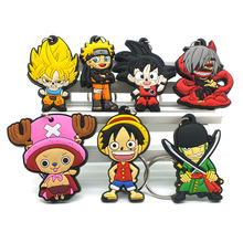 CHXINHNS Hot Anime Dragon Ball key chain cartoon Luffy naruto KeyChain Animal Tokyo Ghoul Wukong chains bag Joba Key Ring(China)