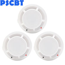 PSCBT Wireless Smoke Detector Fire Alarm Sensor Protection Alarm System 3pcs/lot for home office warehouse