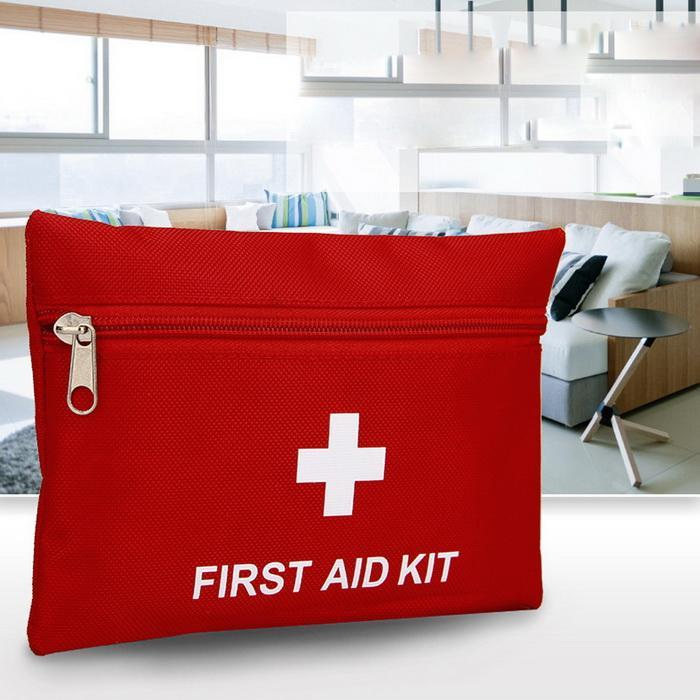 10PCS Portable Outdoor Mini Survival Hiking Emergency First Aid Camping Travel Red Bag First Aid Kit Bag