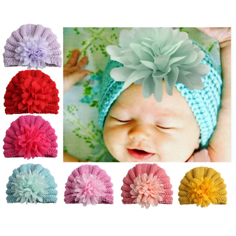 2018 Nette Baumwolle Baby Hut Blume Caps Für Neue Geboren Baby Junge Mädchen Beanie Hut Frühling Herbst Winter Kinder Hüte 7 Farben