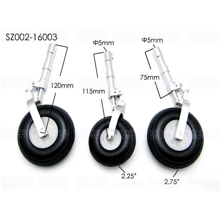 3pcs/set RC Airplane SZ002-16003 Alloy Undercarriage Anti-vibration Landing Gear 1 set of aluminum alloy anti shock leg landing gear with wheels sz002 16002 for rc airplane page 4