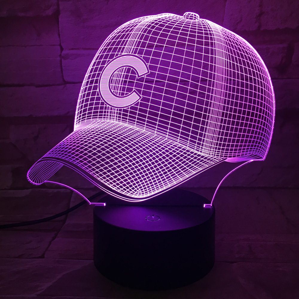 Online buy wholesale baseball desk lamp from china baseball desk color change led light baseball hat 3d table lamp household desk accessories luminaria nightlamp lampen battery geotapseo Image collections